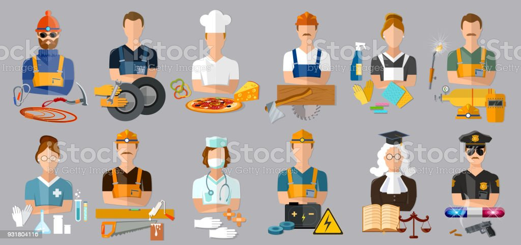 Collection professions. Profession people and avatars collection....