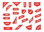 Collection Sale Tags. New signs. Isolated vector illustration.