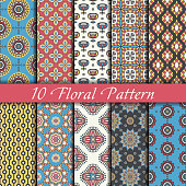 Collection seamless pattern