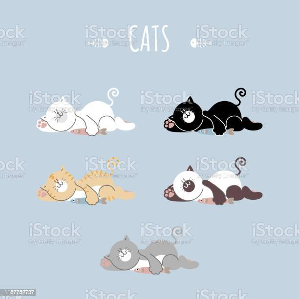Collection set of cute hand drawn cat holding fish with foot print vector id1187752737?b=1&k=6&m=1187752737&s=612x612&h=bitnifovknxaww7cm88ktr4uifkpi5yra9ukcwutoki=