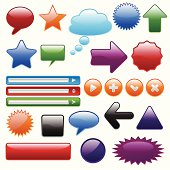 Set of isolated comic speech bubbles on the white background. Vector illustration.