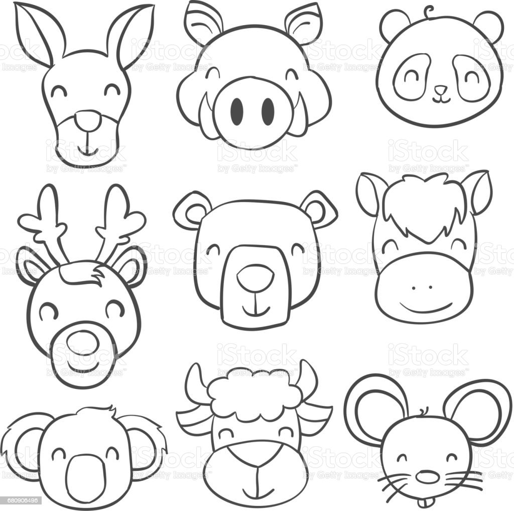 Collection stock of animal doodle style vector illustration royalty-free collection stock of animal doodle style vector illustration stock vector art & more images of animal
