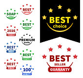 """collection vector badges.  """"Best oc the best"""", """"Best choice"""", """"Best price"""", """"Premium quality"""", """"Bestseller"""","""