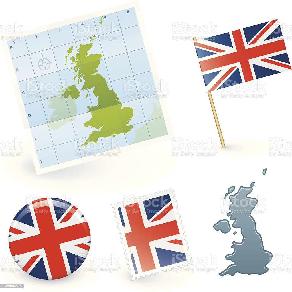 UK collection royalty-free stock vector art