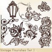 Collection vector vintage design elements