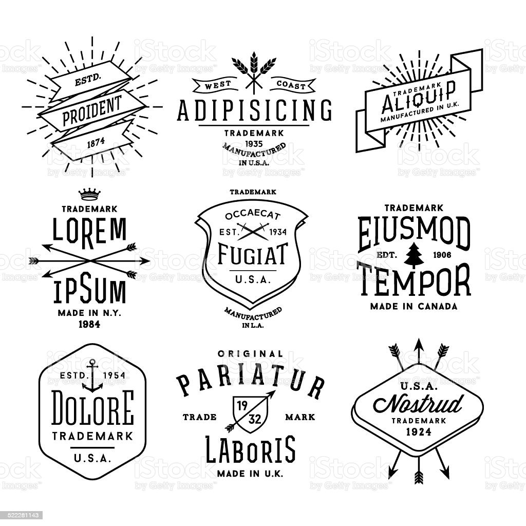 Colección de etiquetas vintage - ilustración de arte vectorial