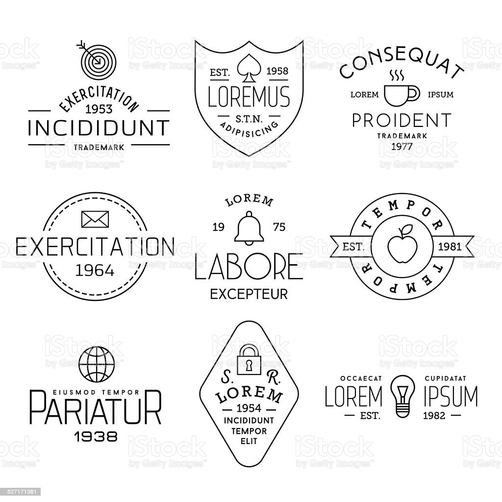 collection vintage labels vector art illustration