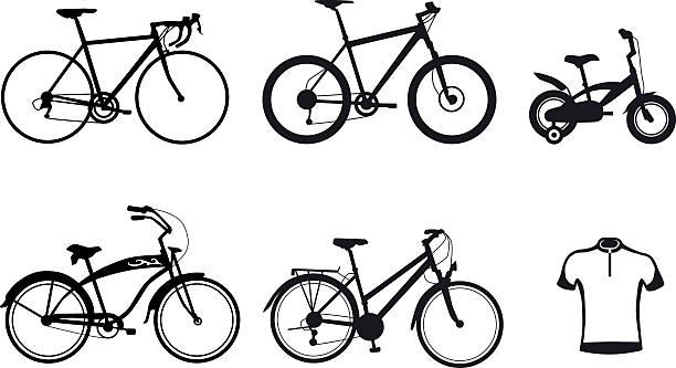 collection-Fahrrad-silhouette – Vektorgrafik