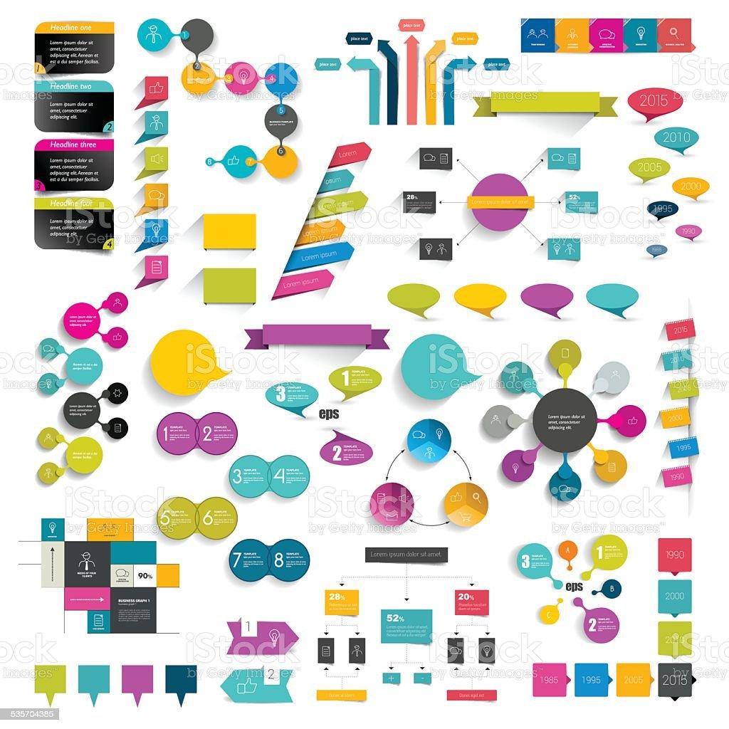 Kollektionen mit info-Grafiken flache design-Diagramme herunterladen. – Vektorgrafik