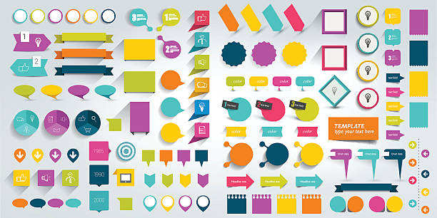 collections of infographics flat design elements. vector illustration. - 資訊設備鍵盤 幅插畫檔、美工圖案、卡通及圖標