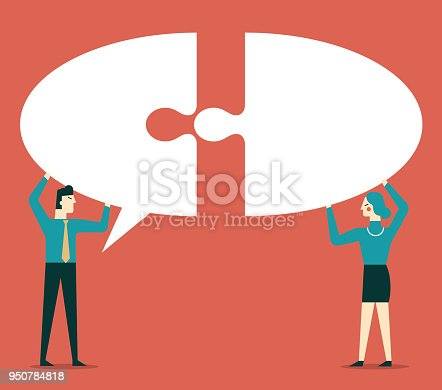istock Collective Ideas - Businessman and Businesswoman 950784818