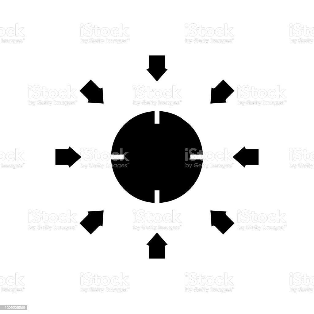 集合ターゲット黒アイコン概念図ベクトルフラットシンボルグリフ記号 ...