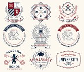 College and University badges 2 colored