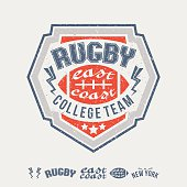 College east coast rugby team emblem and icons