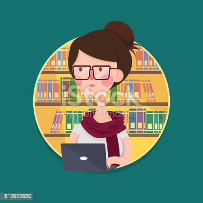 istock College Girl Student Studying in Library 512622620