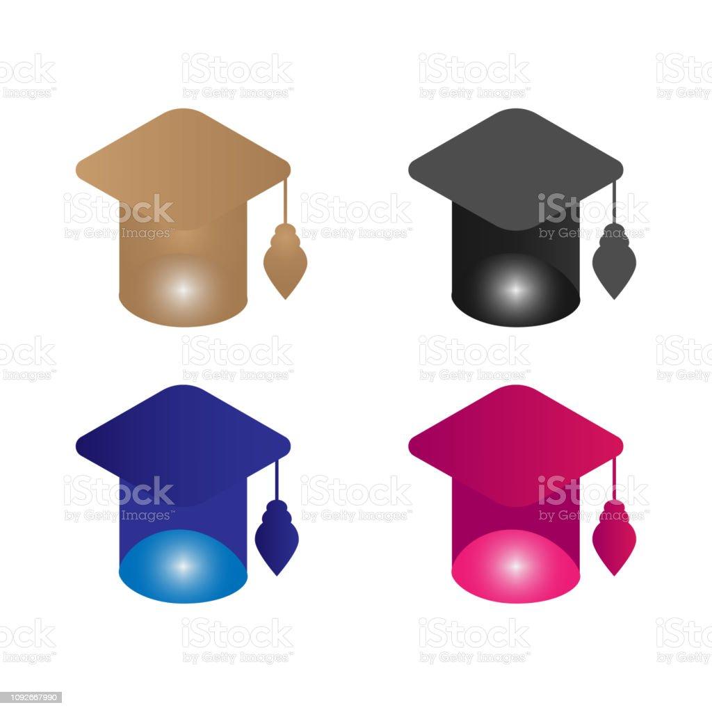 College Graduation Quaste Logo – Vektorgrafik