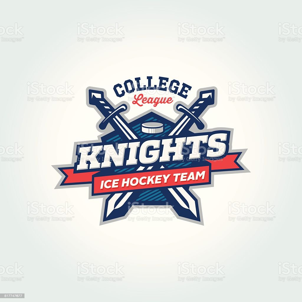 College league sport team logo apparel concept vector art illustration
