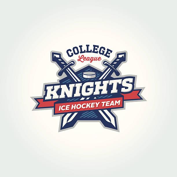 college league sport team logo apparel concept - sword stock illustrations