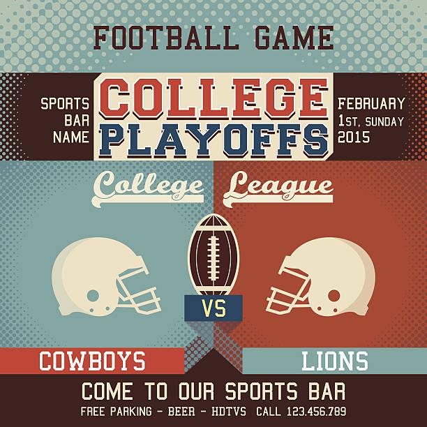 ilustrações de stock, clip art, desenhos animados e ícones de college playoffs jogo de futebol - primeiro down futebol americano