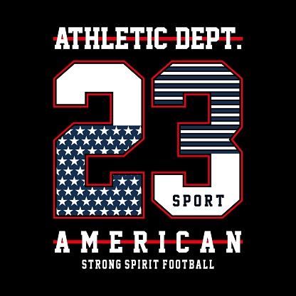 College sport football typography, t-shirt graphics
