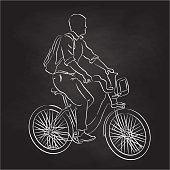 College Student Bike To Class