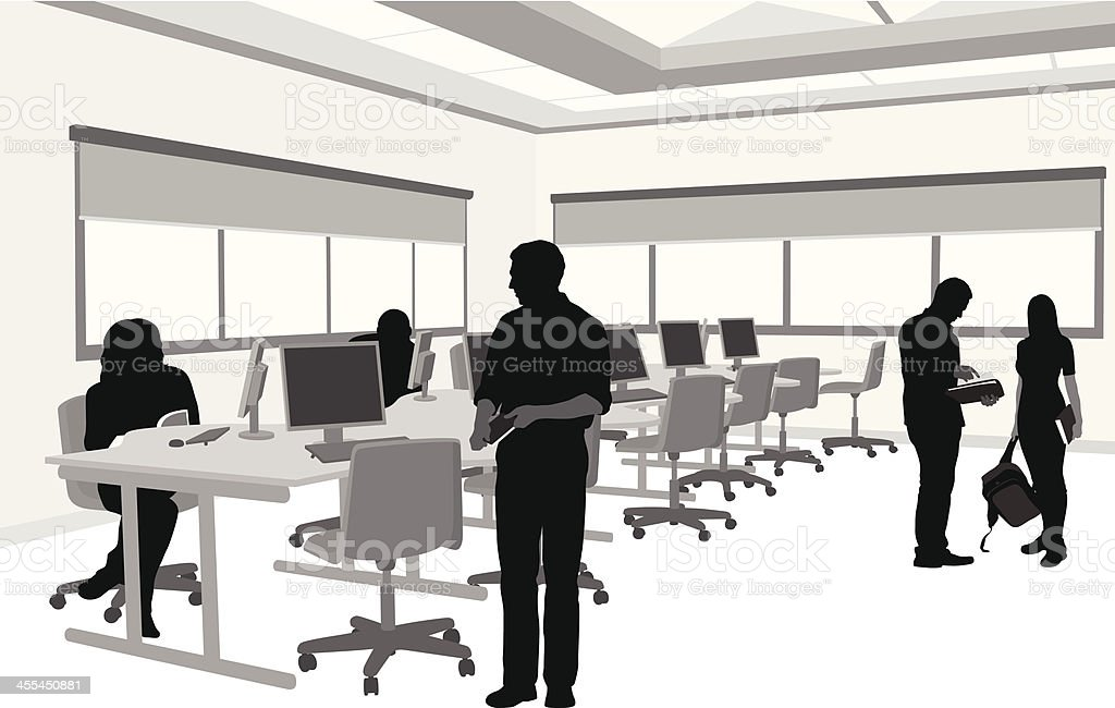 royalty free computer lab clip art vector images illustrations rh istockphoto com computer lab clipart