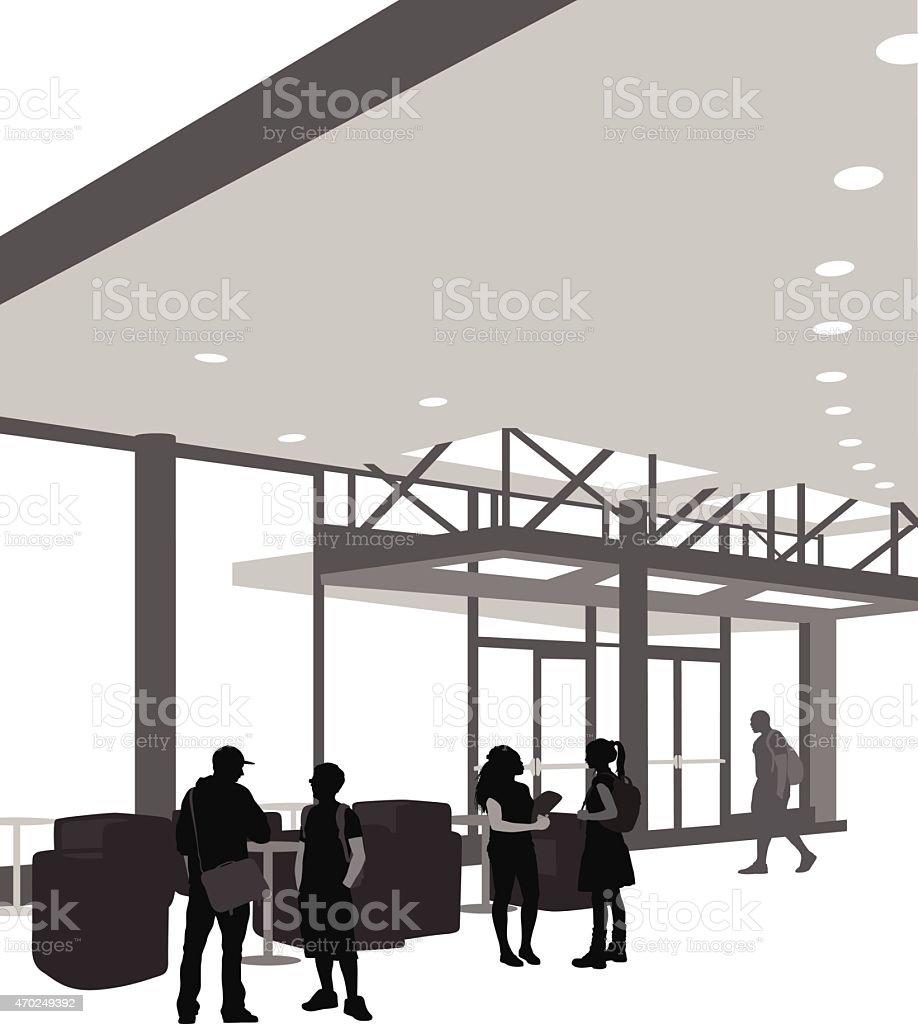 CollegeAdministrationBuilding vector art illustration