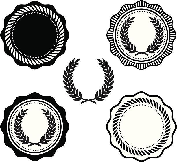 collegiate robben - siegelstempel stock-grafiken, -clipart, -cartoons und -symbole