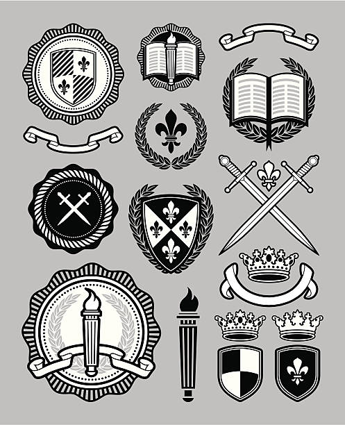 collegiate style collection - university stock illustrations, clip art, cartoons, & icons