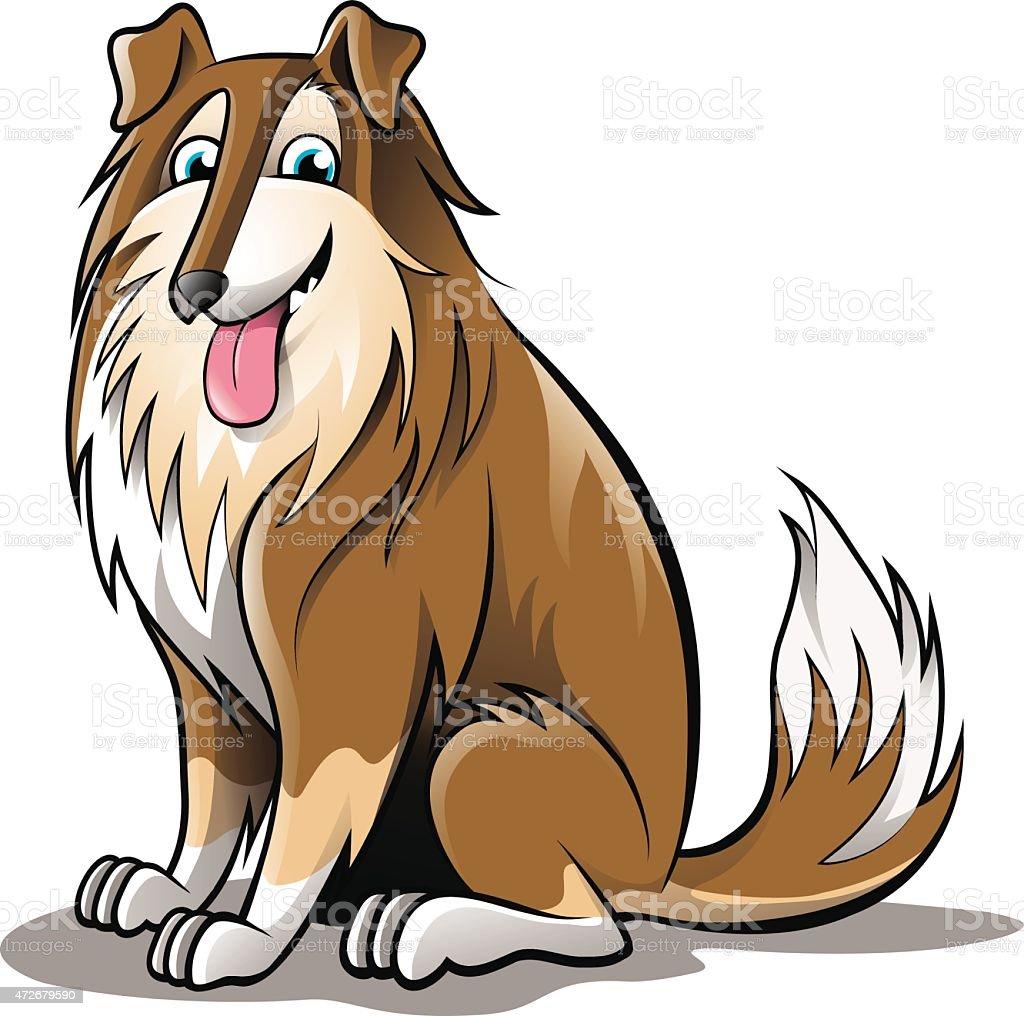Collie Dog Golden Cartoon