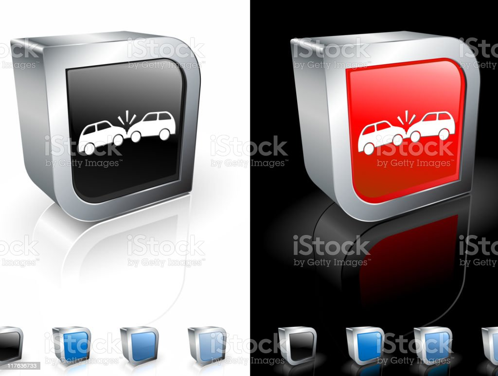collision 3D royalty free vector art royalty-free stock vector art