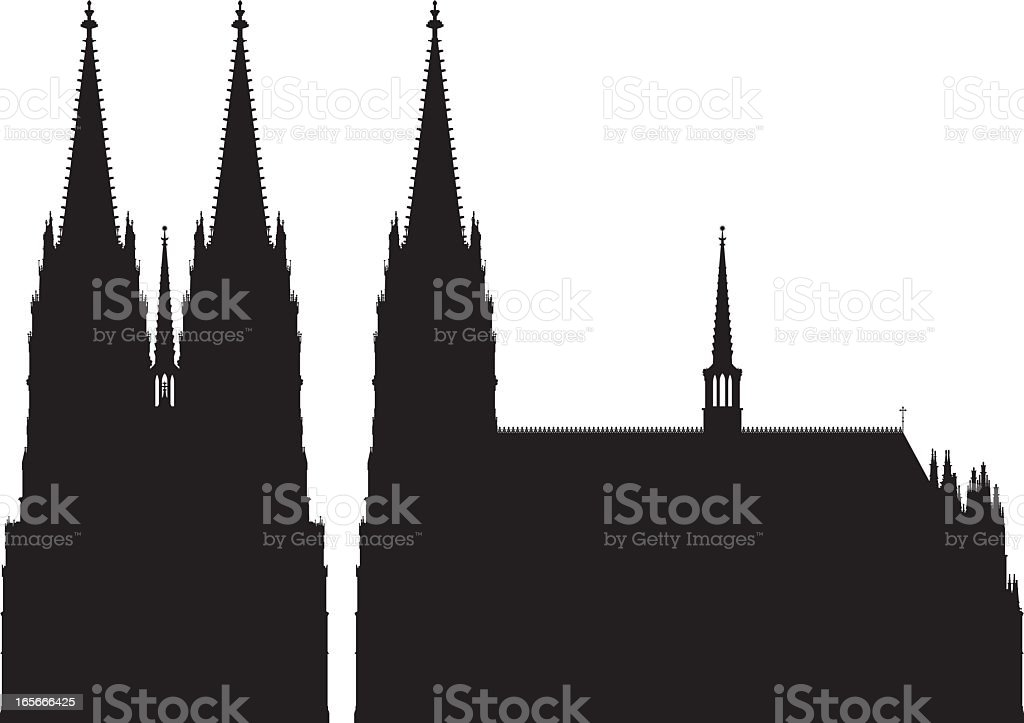 Cologne Cathedral vector art illustration