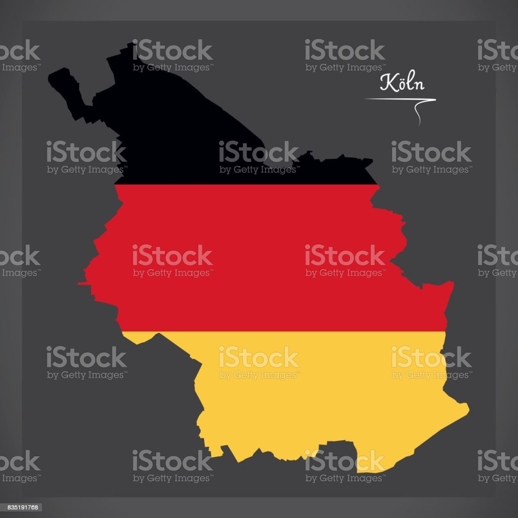 Cologne map with german national flag illustration stock vector art cologne map with german national flag illustration royalty free cologne map with german national flag gumiabroncs Images