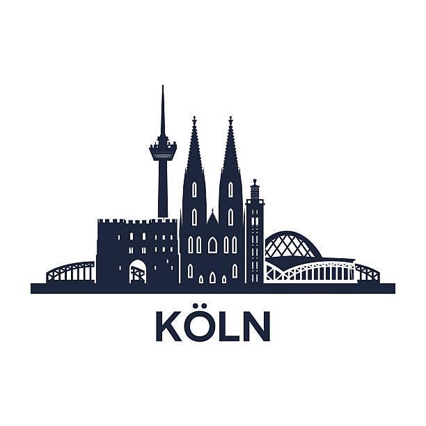 köln skyline-logo - köln stock-grafiken, -clipart, -cartoons und -symbole