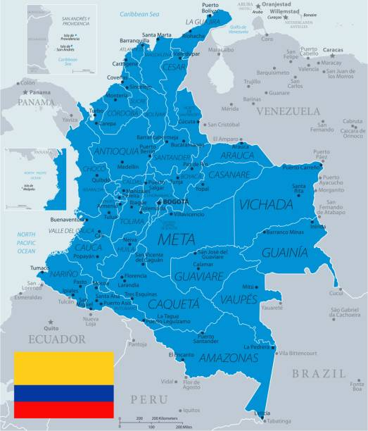 33 - kolumbien - blaugrau 10 - bucaramanga stock-grafiken, -clipart, -cartoons und -symbole