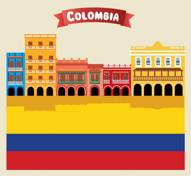 kolumbien, cartagena - cartagena stock-grafiken, -clipart, -cartoons und -symbole