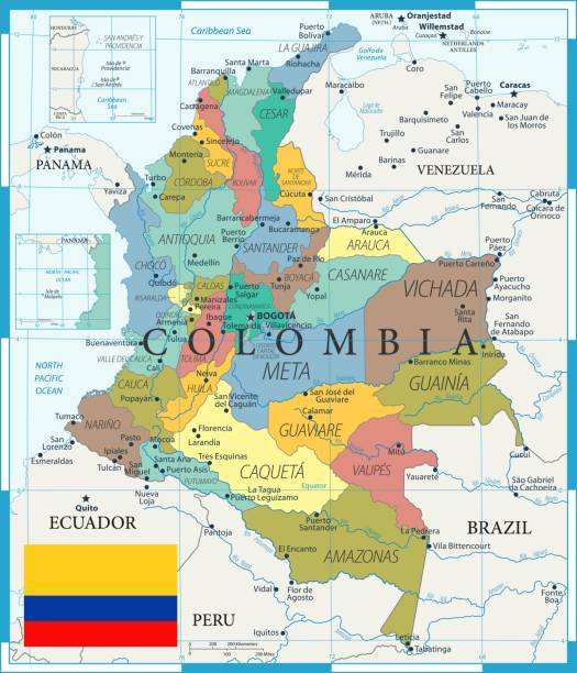 27 - kolumbien - color1 10 - bucaramanga stock-grafiken, -clipart, -cartoons und -symbole