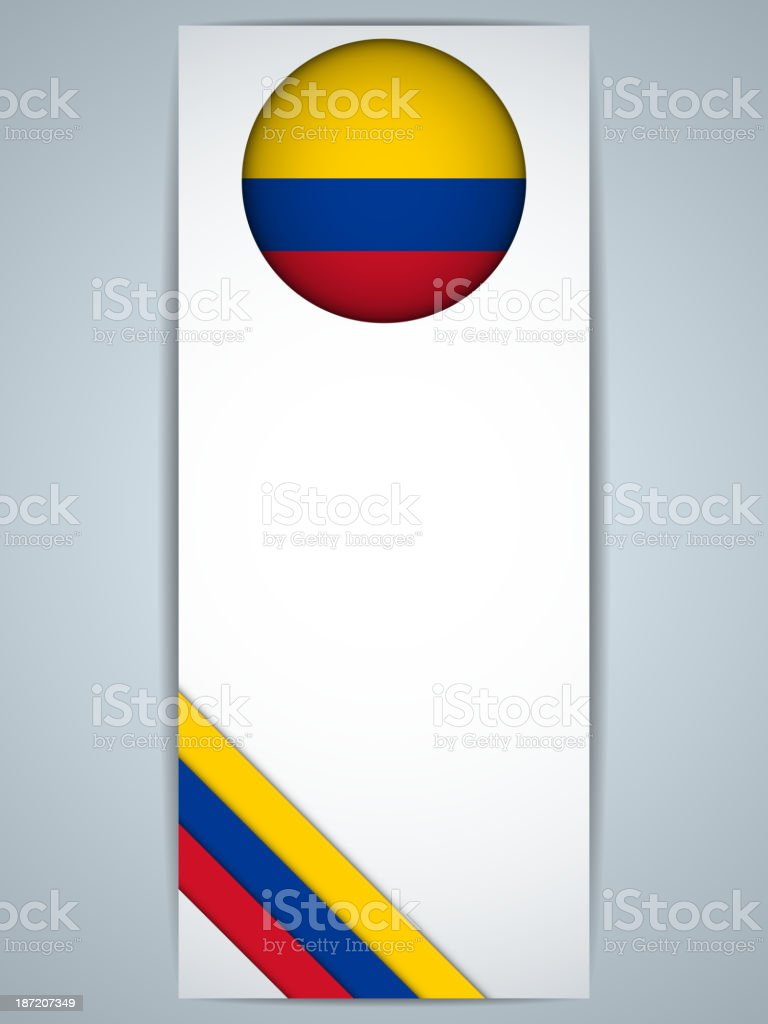 Colombia Country Set of Banners royalty-free stock vector art