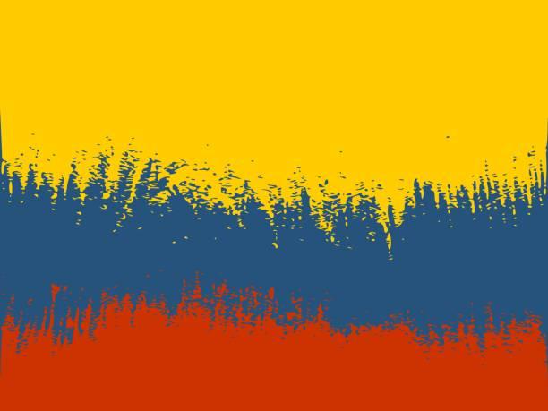 stockillustraties, clipart, cartoons en iconen met colombia vlag ontwerp - colombia land