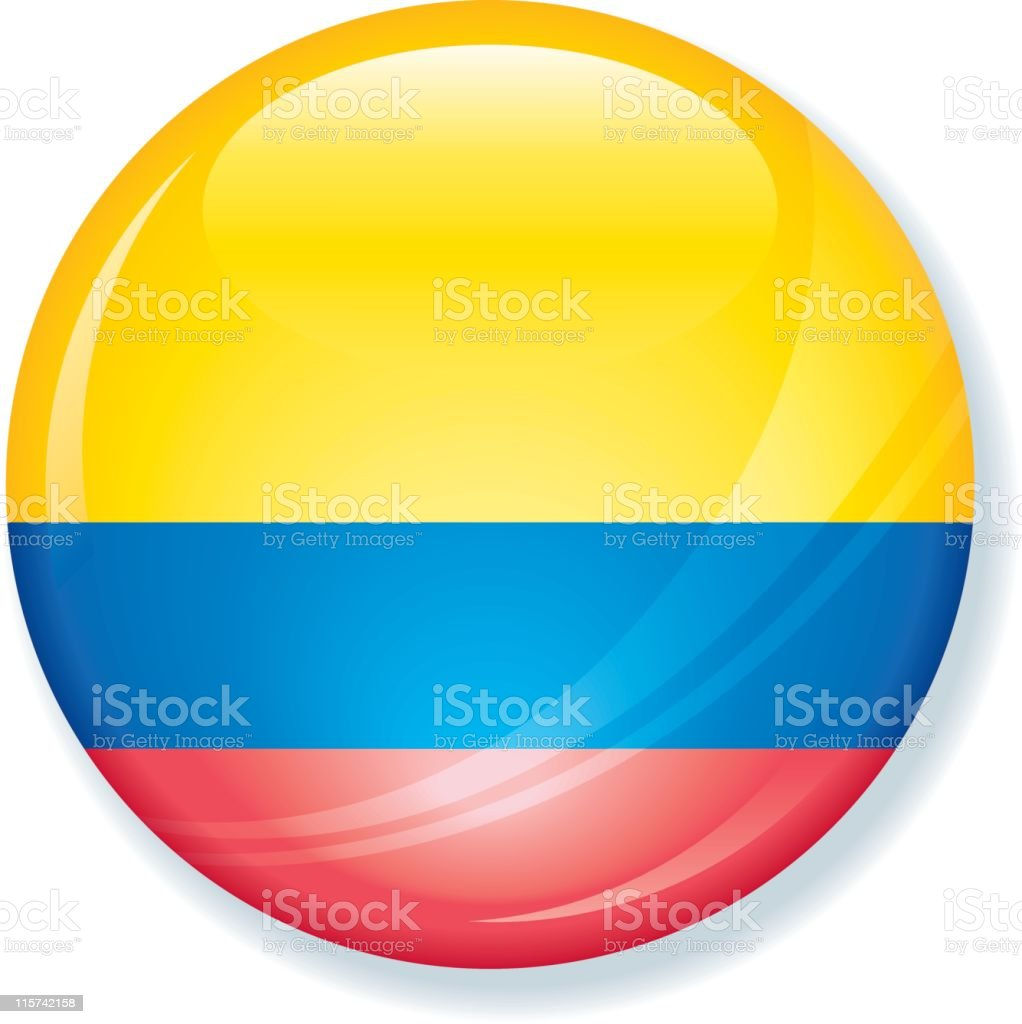 Colombia Flag Super Glossy royalty-free stock vector art