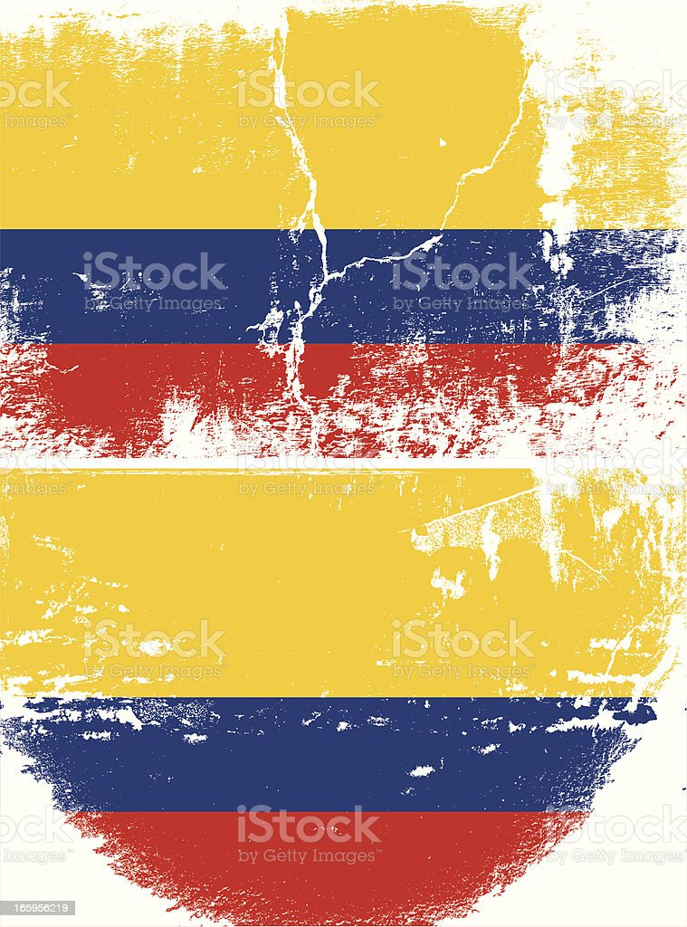 Colombia Grunge flag royalty-free stock vector art