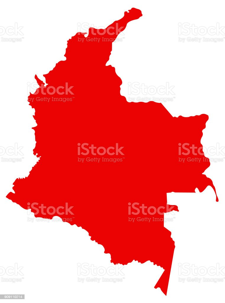 Colombia Map Stock Vector Art & More Images of Bogota 909110214 | iStock