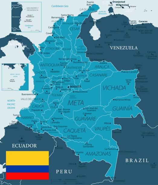 32 - kolumbien - murena dunkel 10 - bucaramanga stock-grafiken, -clipart, -cartoons und -symbole