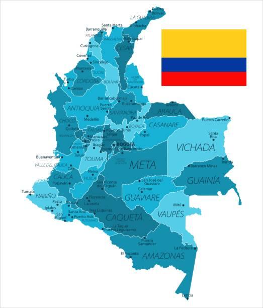 31 - kolumbien - murena ort isoliert 10 - bucaramanga stock-grafiken, -clipart, -cartoons und -symbole