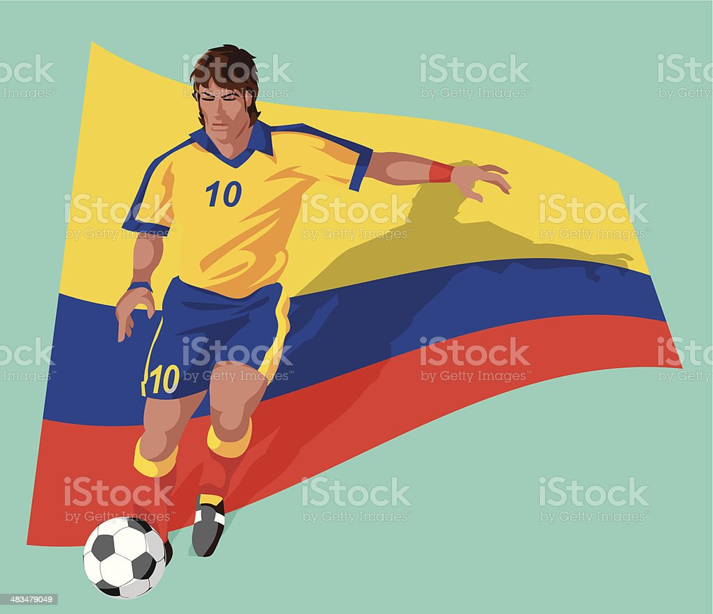 Colombia soccer player royalty-free colombia soccer player stock vector art   amp  more images 8755899ce