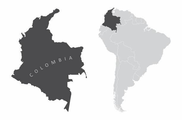 stockillustraties, clipart, cartoons en iconen met colombia zuid-amerika - colombia land