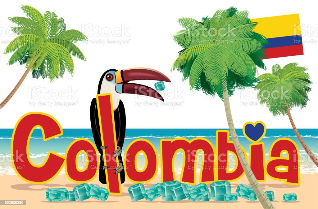 Colombia Travel - Royalty-free Amazon Rainforest stock vector