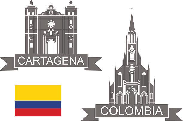 kolumbien - cartagena stock-grafiken, -clipart, -cartoons und -symbole