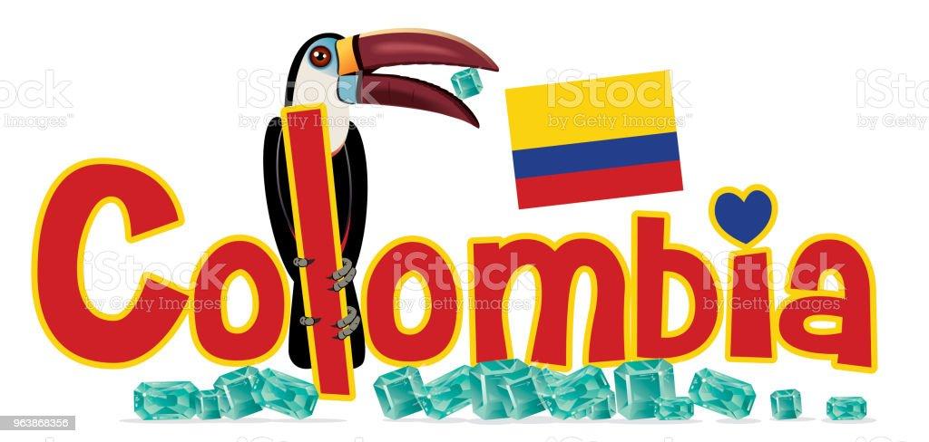 Colombia - Royalty-free Amazon Region stock vector