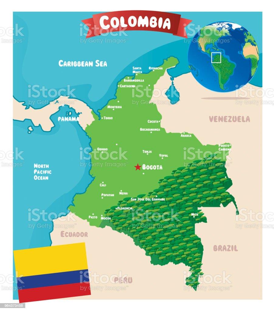Colômbia - Vetor de América do Sul royalty-free
